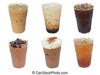 Collection of iced drinks