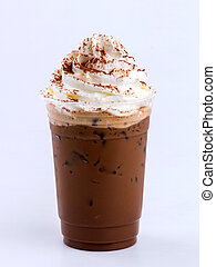 iced mocha with whip cream topping