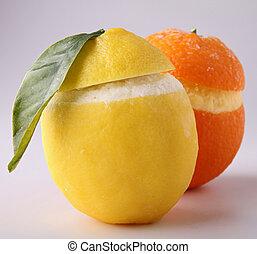 iced orange and lemon - sorbet