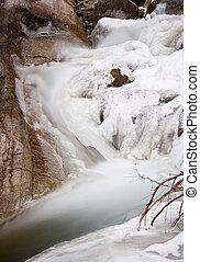 Iced River Long Exposure, Austria