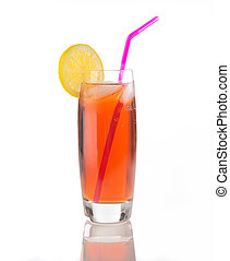 Iced Tea Glass on White