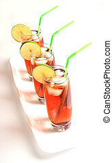 Iced Tea Glasses on White