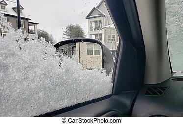 Iced Up Car Window