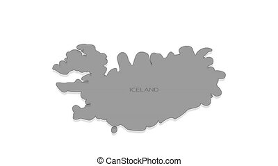 Iceland animated map with alpha channel. - Stylish and ...