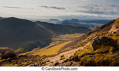 Iceland, beautiful mountain landscape