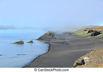 Iceland black sand beach