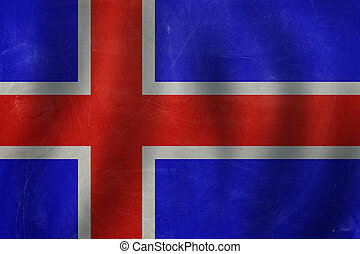 Iceland concept with the Icelandic flag background.