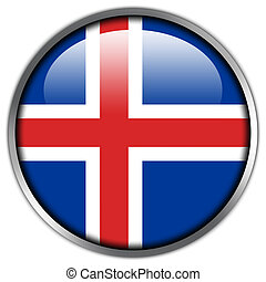 Iceland Flag glossy button