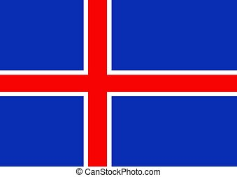 Iceland Flag - Illustrated flag of Iceland
