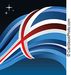 Iceland flag illustration background
