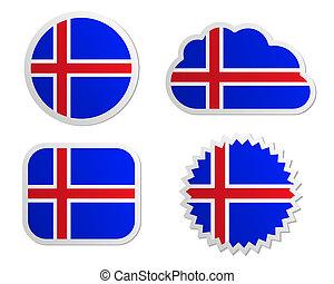 Iceland flag labels