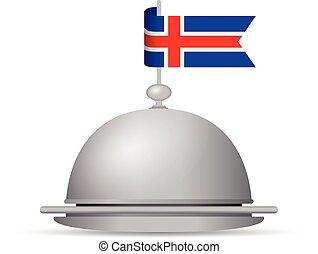 iceland flag platter