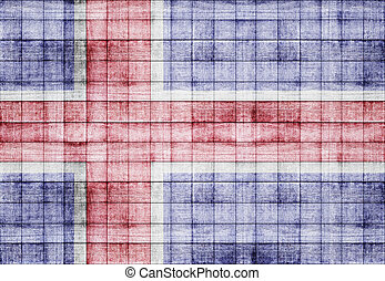 Iceland flag texture background