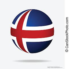 Iceland Flag. Vector illustration.