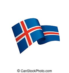 Iceland flag, vector illustration