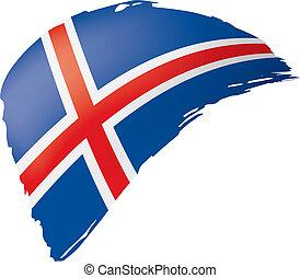 Iceland flag, vector illustration on a white background