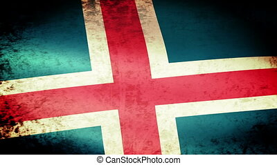 Iceland Flag Waving, grunge look