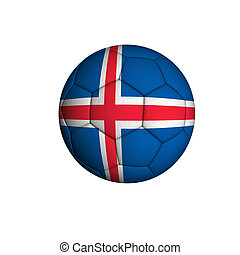 Iceland football - Soccer ball with the flag of the Iceland...