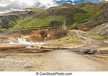Iceland - geothermal area near Grindavik.