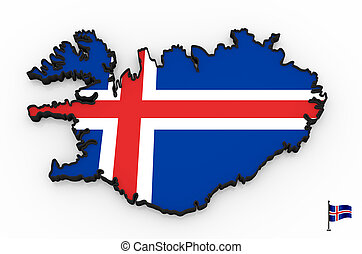 Iceland high detailed 3D map