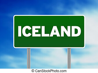 Iceland Highway Sign