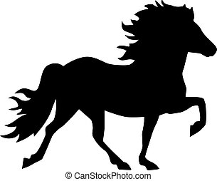 Iceland horse silhouette