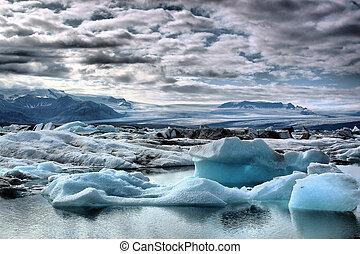 Iceland Icebergs on Jokulsarlon
