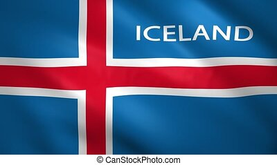 Iceland lag with the name of the country