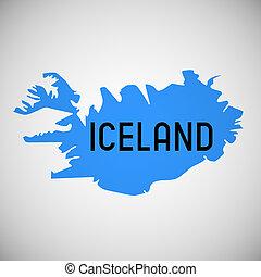 Iceland - map