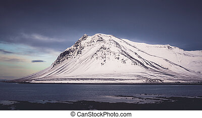 Iceland mountain in winter