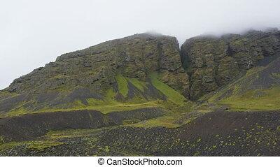 Iceland Raudfeldsgja Canyon gorge rift nature landscape on the Snaefellsnes peninsula, West Iceland.
