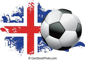 Iceland Soccer Grunge Design