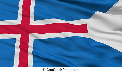 Iceland State Flag Closeup Seamless Loop - Iceland State...