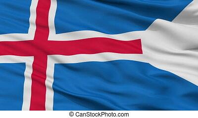 Iceland State Flag Closeup Seamless Loop