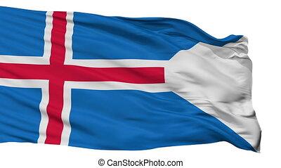 Iceland State Flag Isolated Seamless Loop