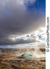 Iceland strokkur geysir - strokkur geysir hot spring ...