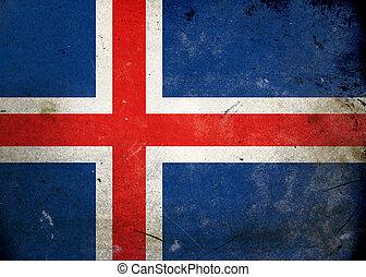 iceland vlag, grunge