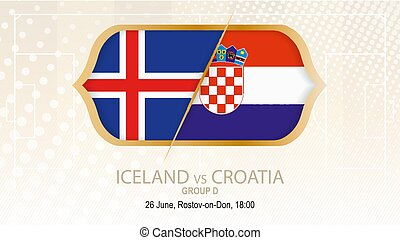 Iceland vs Croatia, Group D. Football competition, Rostov-on-Don.