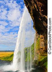 Iceland waterfall Seljalandsfoss