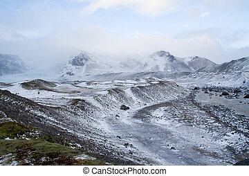 Iceland winter mountains