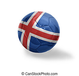 Icelandic Football - Football ball with the national flag of...