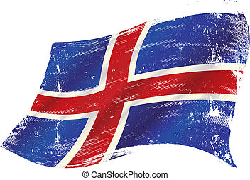 icelandic grunge flag - A grunge icelandic flag for you in...