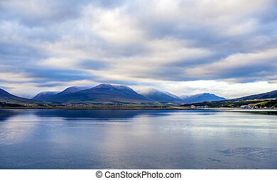 Icelandic landscape2 - Landscape taken from the sea at...