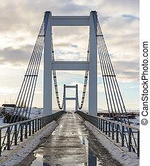 Icelandic One-lane Bridge - A single lane bridge in southern...
