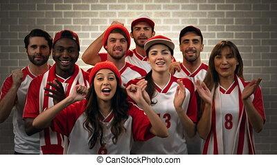 ich, grupa, drużyna, doping, miłośnicy