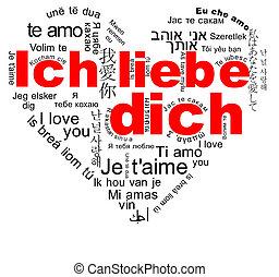 Ich liebe dich - I love you - Ich liebe dich