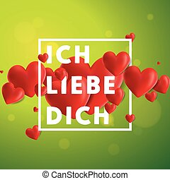 Ich liebe dich Vector Background - Decorative vector...