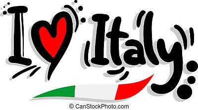 ich, liebe, italien