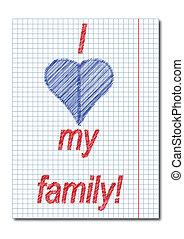 ich, liebe, mein, familie