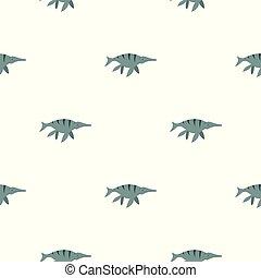 Ichthyosaur dinosaur pattern seamless